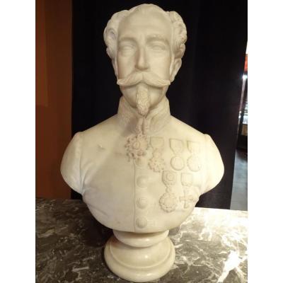 Buste Marbre De Carrare Napoleon III Empereur