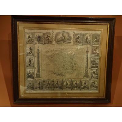 Gravure Napoleonienne Souvenir Historique
