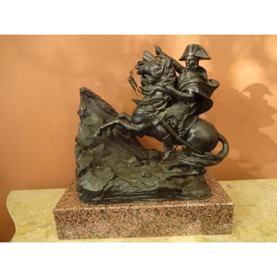 Bronze Napoleon Bonaparte Franchissant Les  Alpes