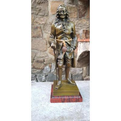 Bronze 19 éme Siécle Représentant Voltaire