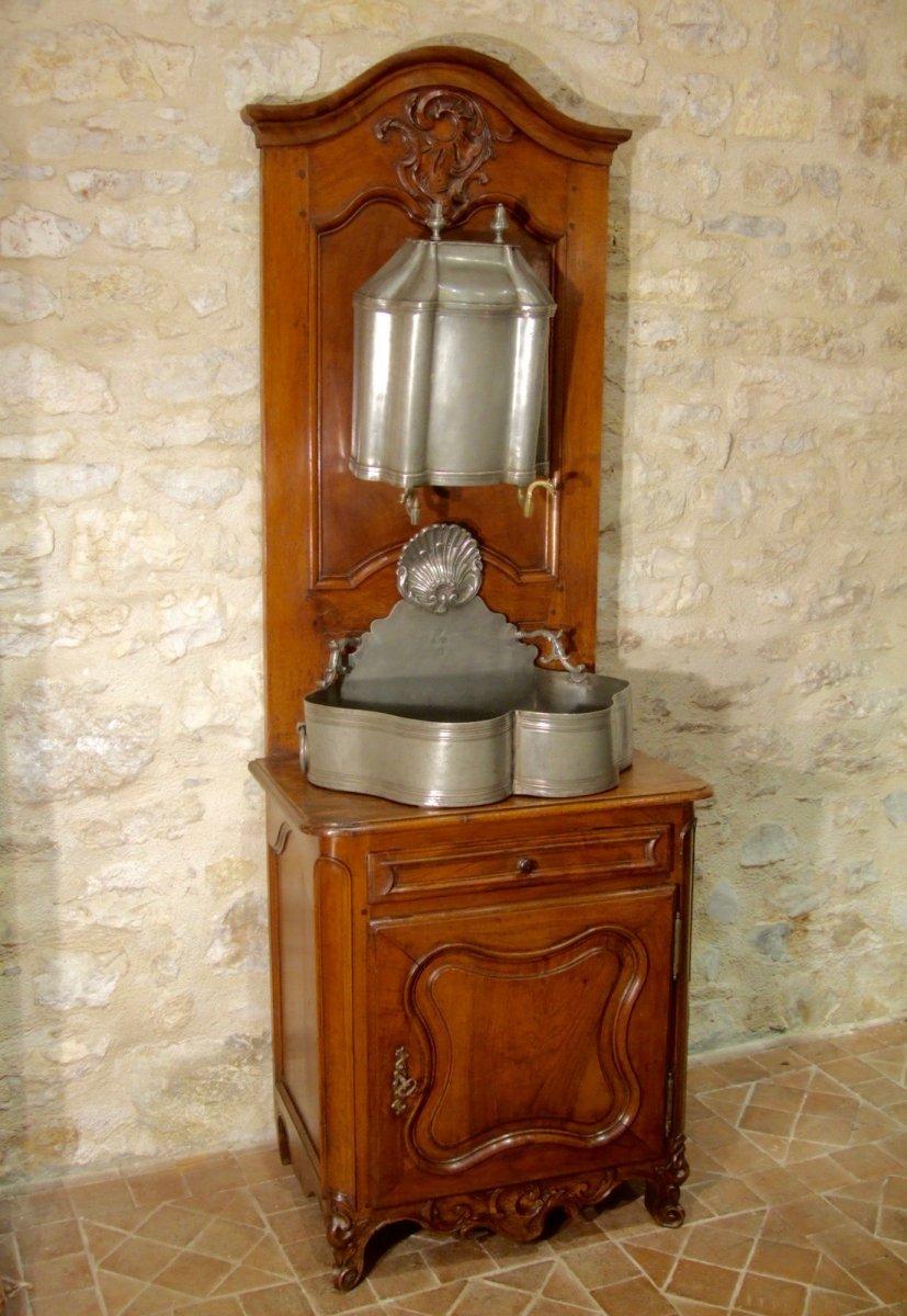 Fontaine En Etain Et Son Meuble,  Nimes XVIIIè
