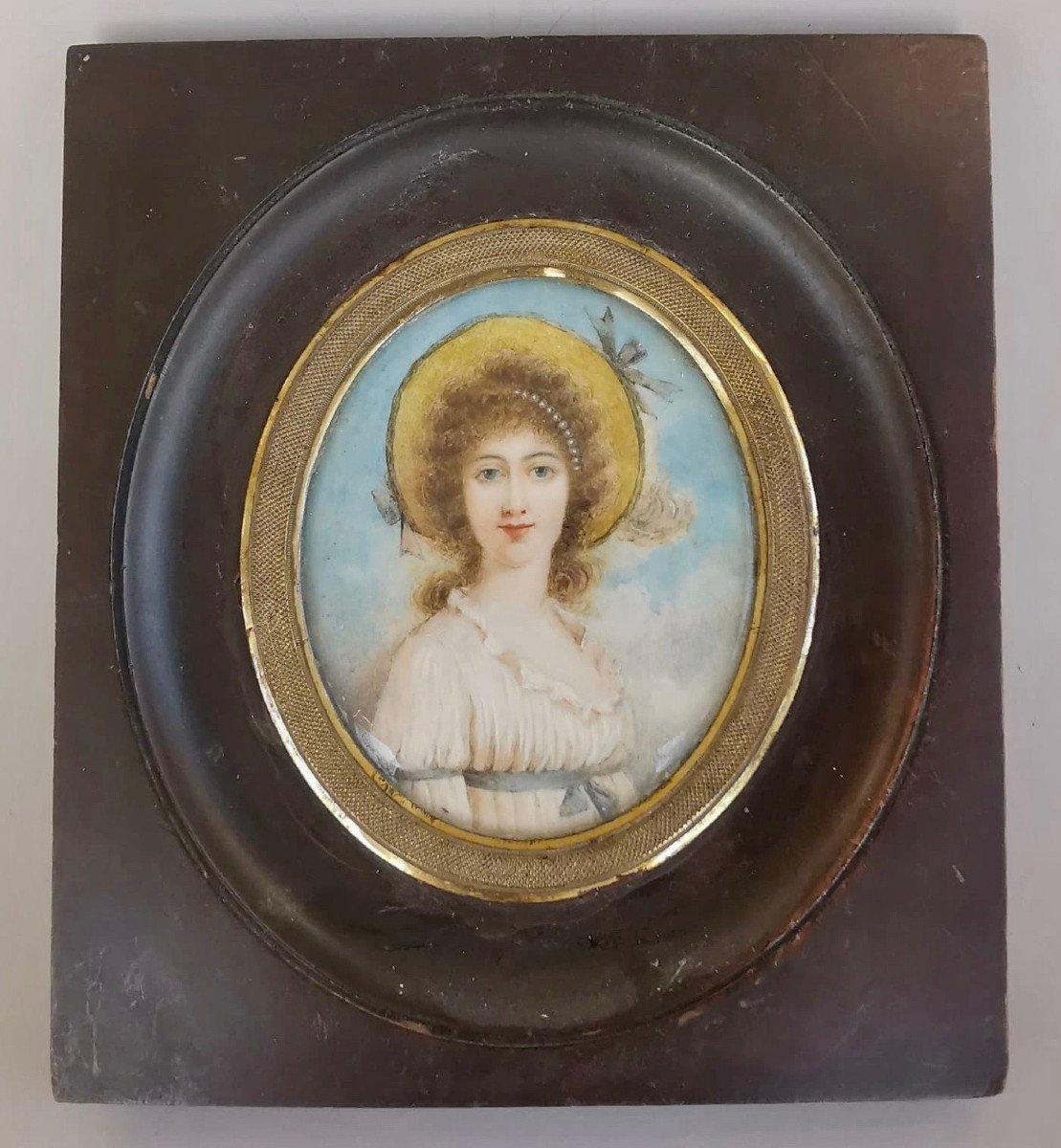 Miniature  Début XIXè