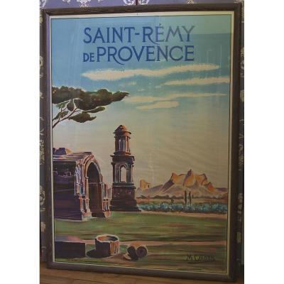 Affiche Ancienne Encadrée/ St Rémy De Provence