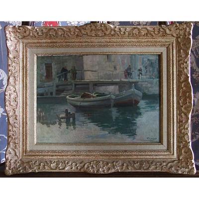 Barques à Martigues Par Honoré Camos
