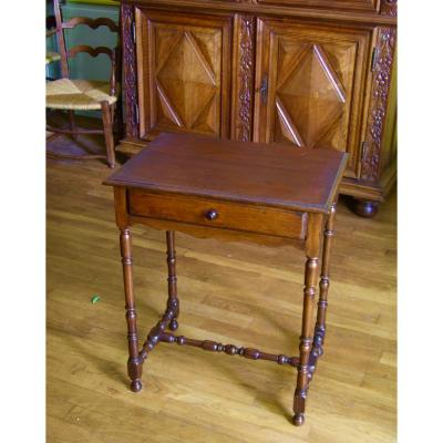 Petite Table De Style Louis XIII / 19è