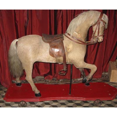 Grand Cheval Jouet Circa 1900