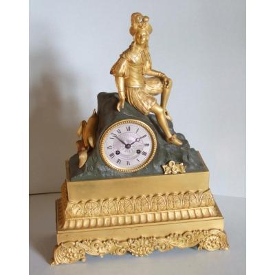 Pendule XIX ème En Bronze Doré