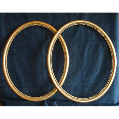 Pair Of Oval Frames Nineteenth