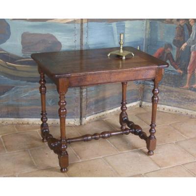 Table Volante En Chêne  XVII/ XVIIIè