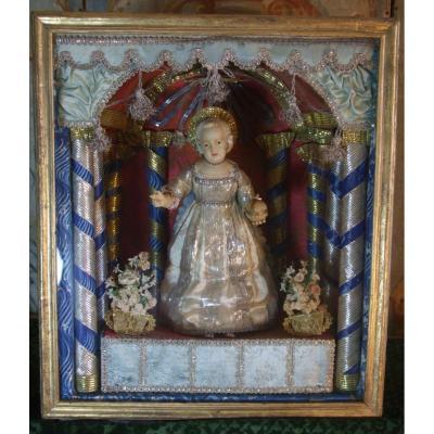 Enfant Jésus, Cire Habillée De Nancy  XVIIIè