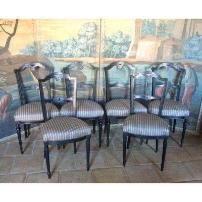 Six Napoleon III Chairs