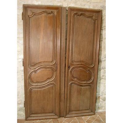 Pair Of Eighteenth Oak Doors