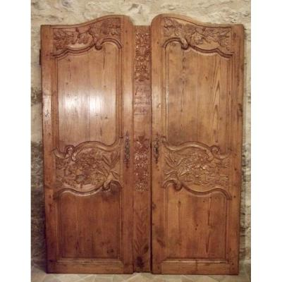 Cabinet Doors Signed From Pays De Caux