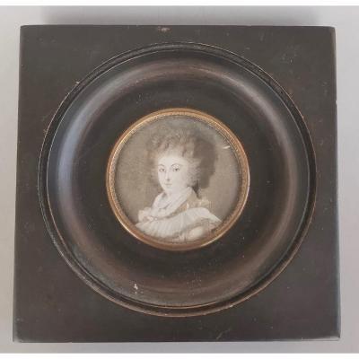 Miniature Début XIXè:La  Princesse De Lamballe