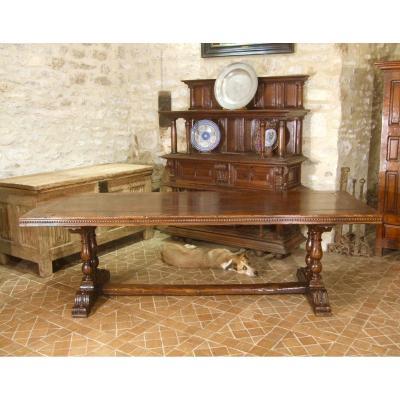 Grande Table De Style Renaissance, Epoque XXè