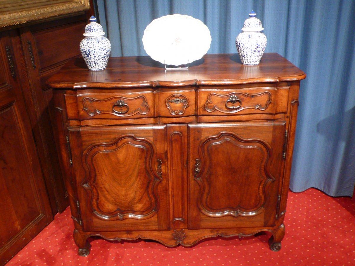 Buffet En Noyer De Style Louis XV