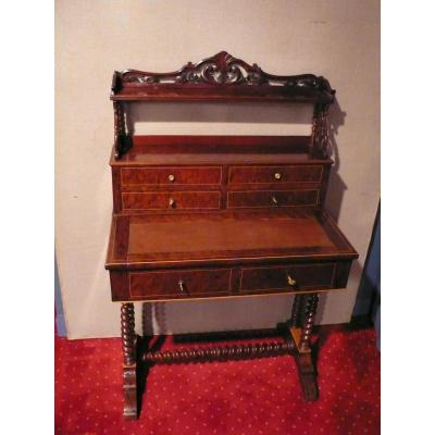 Mahogany Desk In Style Charles X