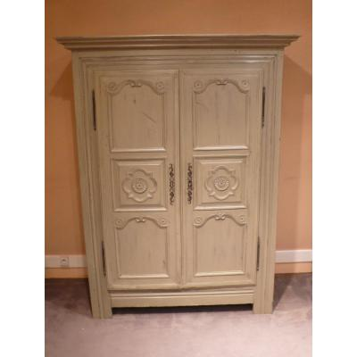 Small Painted Cabinet In Louis XIV Style.