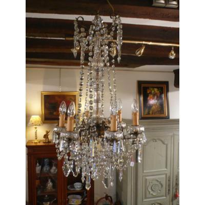 Lustre En Cristal Style Louis XVI