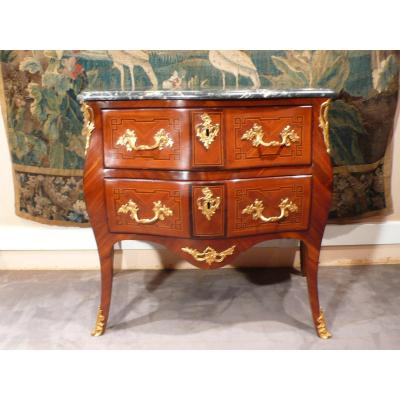 Louis XV Marquetry Commode.