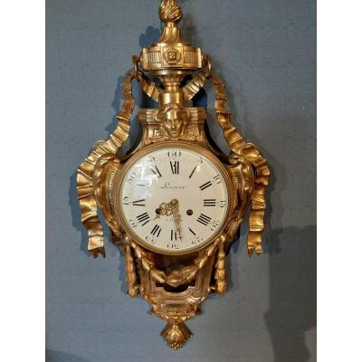 Wall Cartel In Gilt Bronze Louis XVI Style And Late 18th Century.