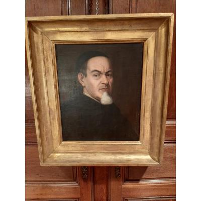 Portrait D'un Ecclésiastique D'époque XVIIIème Siècle.