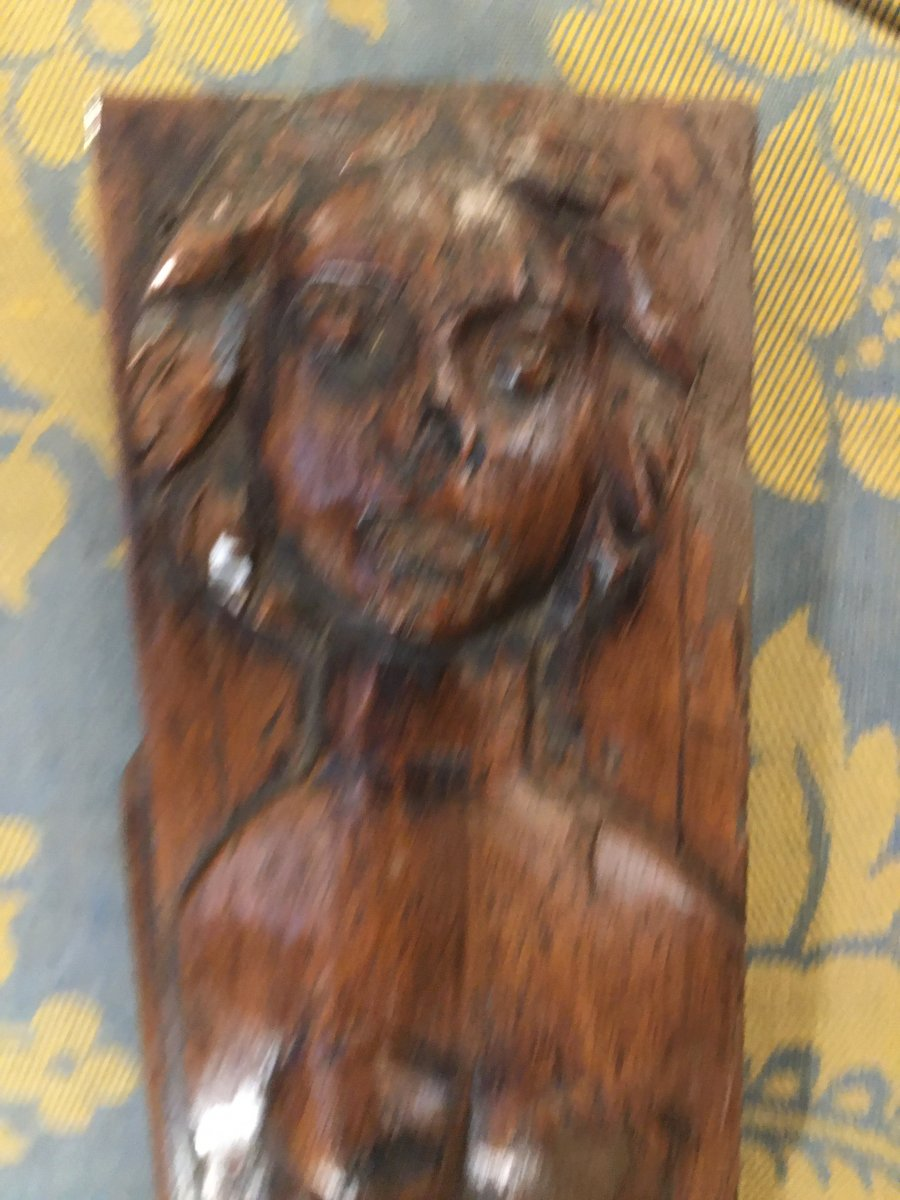 Pair Of High Period Carved Wood Elements-photo-3