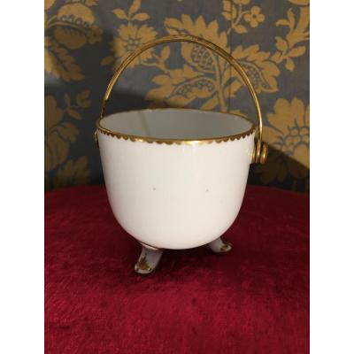 Small Porcelain Cream Pot Vincennes 18 Eme