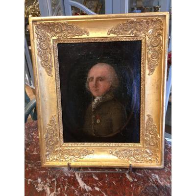 Portrait Of Man Restoration Period - Charles X