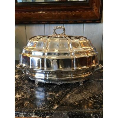 Exceptional 19 Th Silver Metal Plate Warmer
