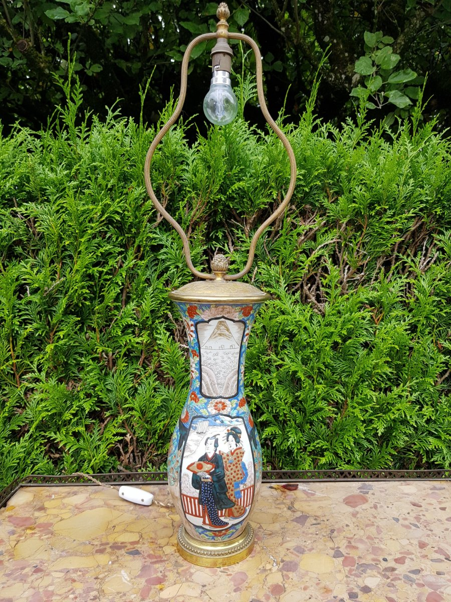 Porcelain Lamp From Japan End XIX Th