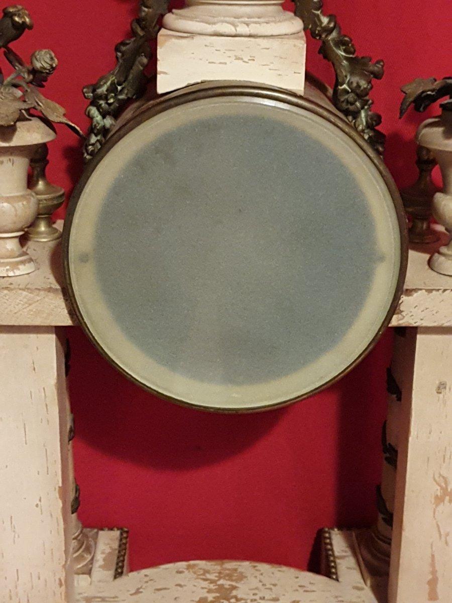 Pendule Louis XVI, Bois Patiné Et Bronze-photo-6