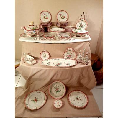 Nans Sous Sainte Anne, Faience Service 76 Pieces