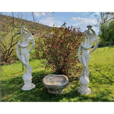 Pair Of Garden Statue