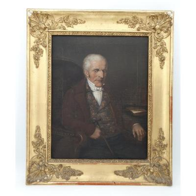 French School Of The XIXth S, Portrait Of A Man