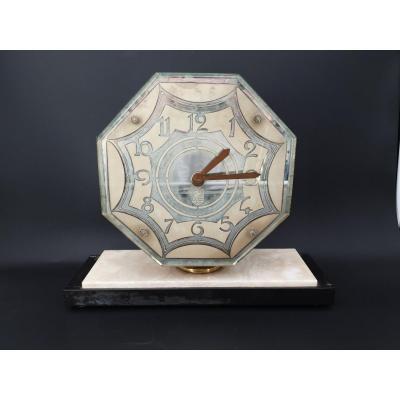 Horloge, Miroir De Venise Art Déco