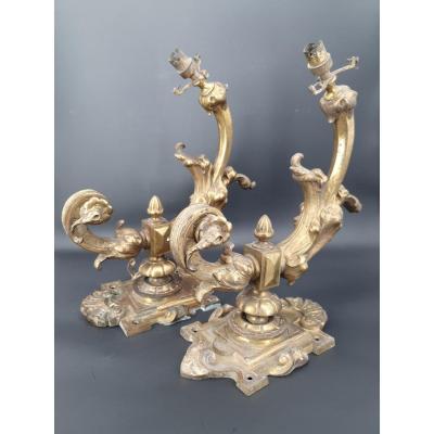 Paire d'Applique En Bronze époque Napoléon III