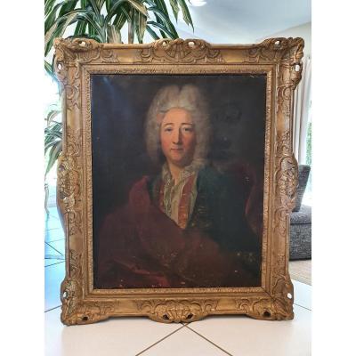 XVIII ème S, Portrait d'Homme, Cadre d'époque