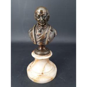 Deyrieu, Bust Of A Man In Bronze Napoleon III