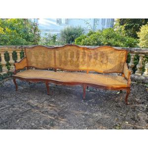 Large Louis XV Style Chateau Bench