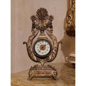 Lyre Shape Alarm Clock XIXth S