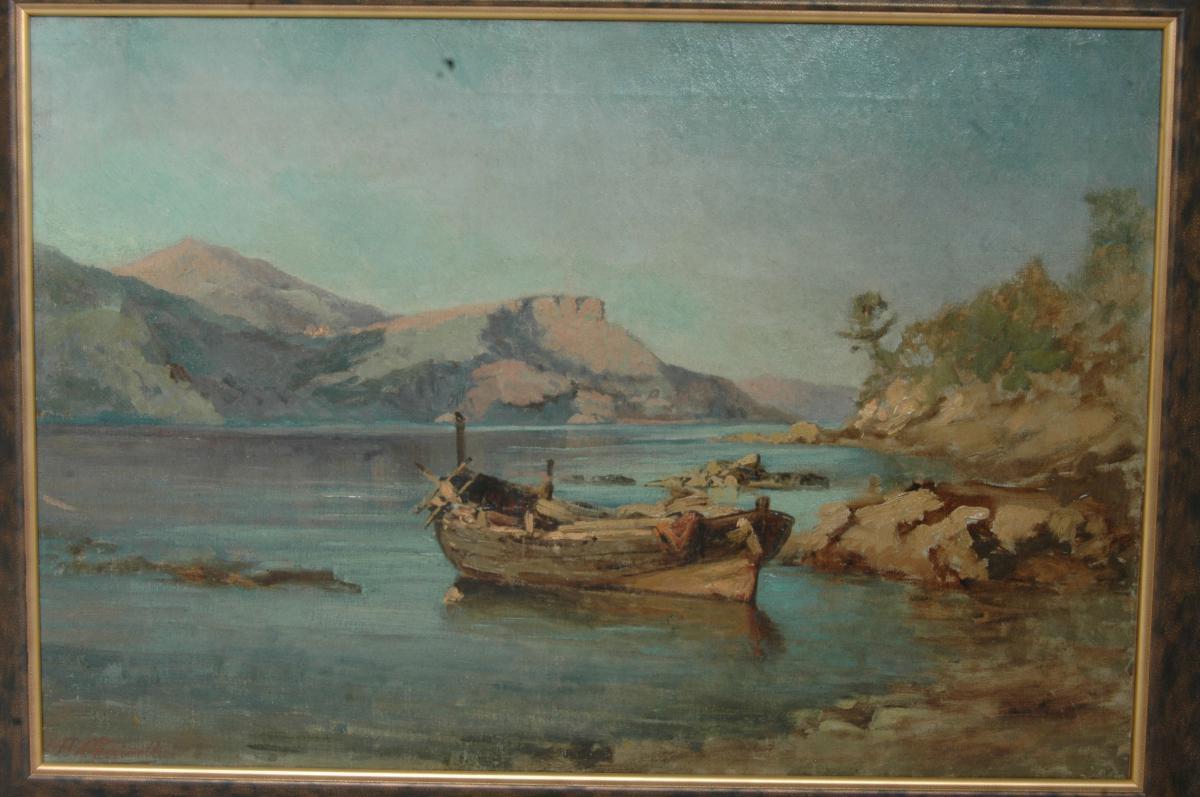 Paysage à la barque. -photo-2