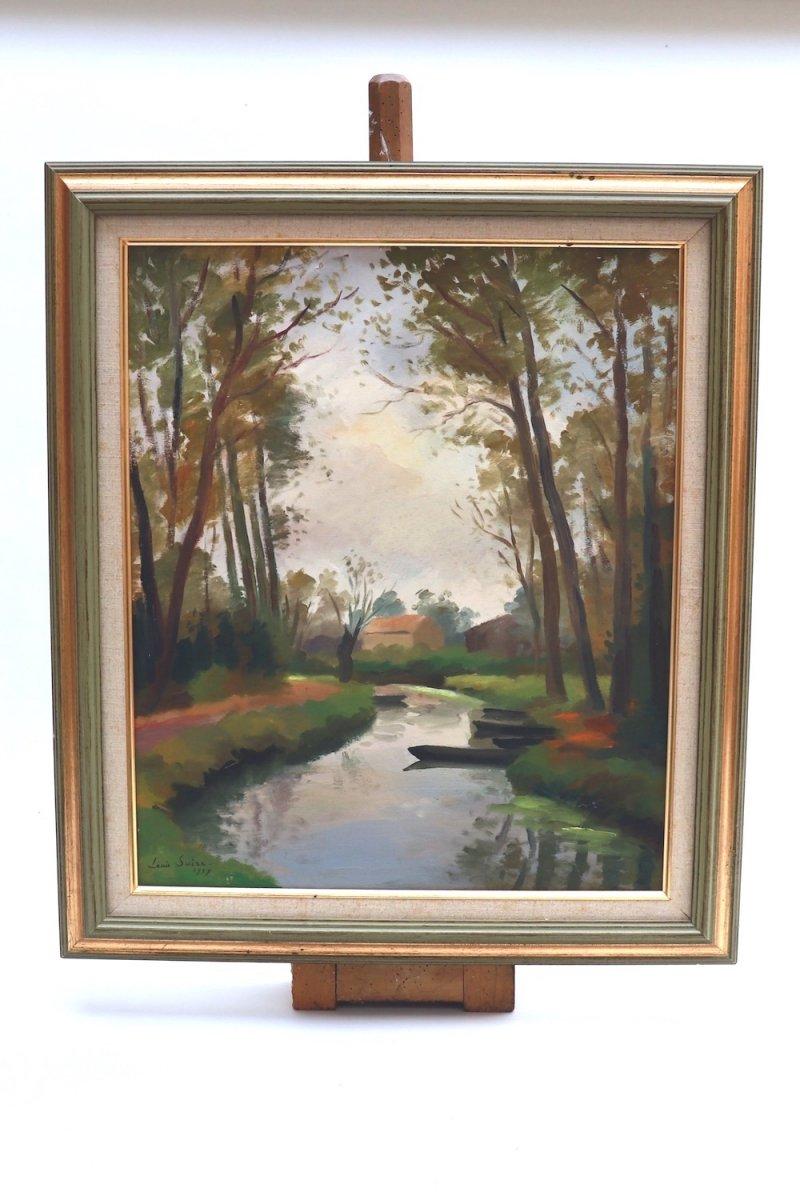 Louis Suire ( 1899- 1987) . La Venise Verte. Marais Poitevin.