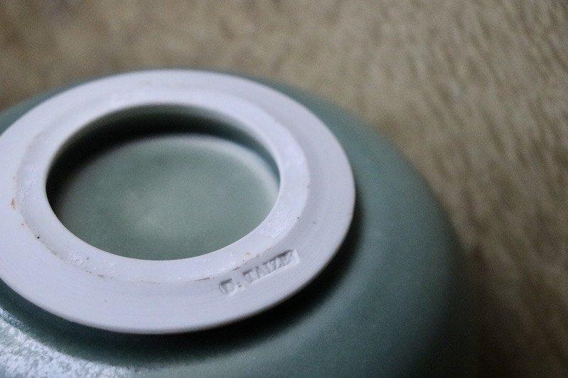 Daniel de Montmollin. Vase Céladon sur porcelaine. H 17,5 cm.-photo-4