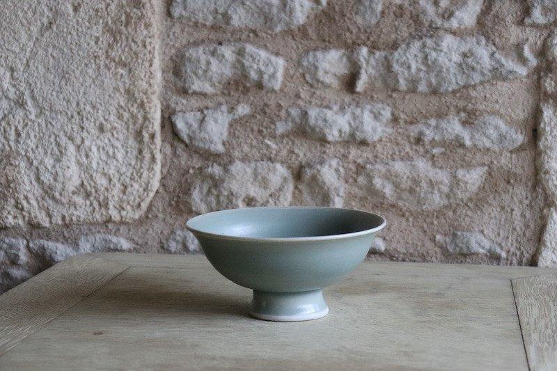 Daniel De Montmollin. Coupe Céladon Sur Porcelaine. D 15,4 Cm / 6,07 In