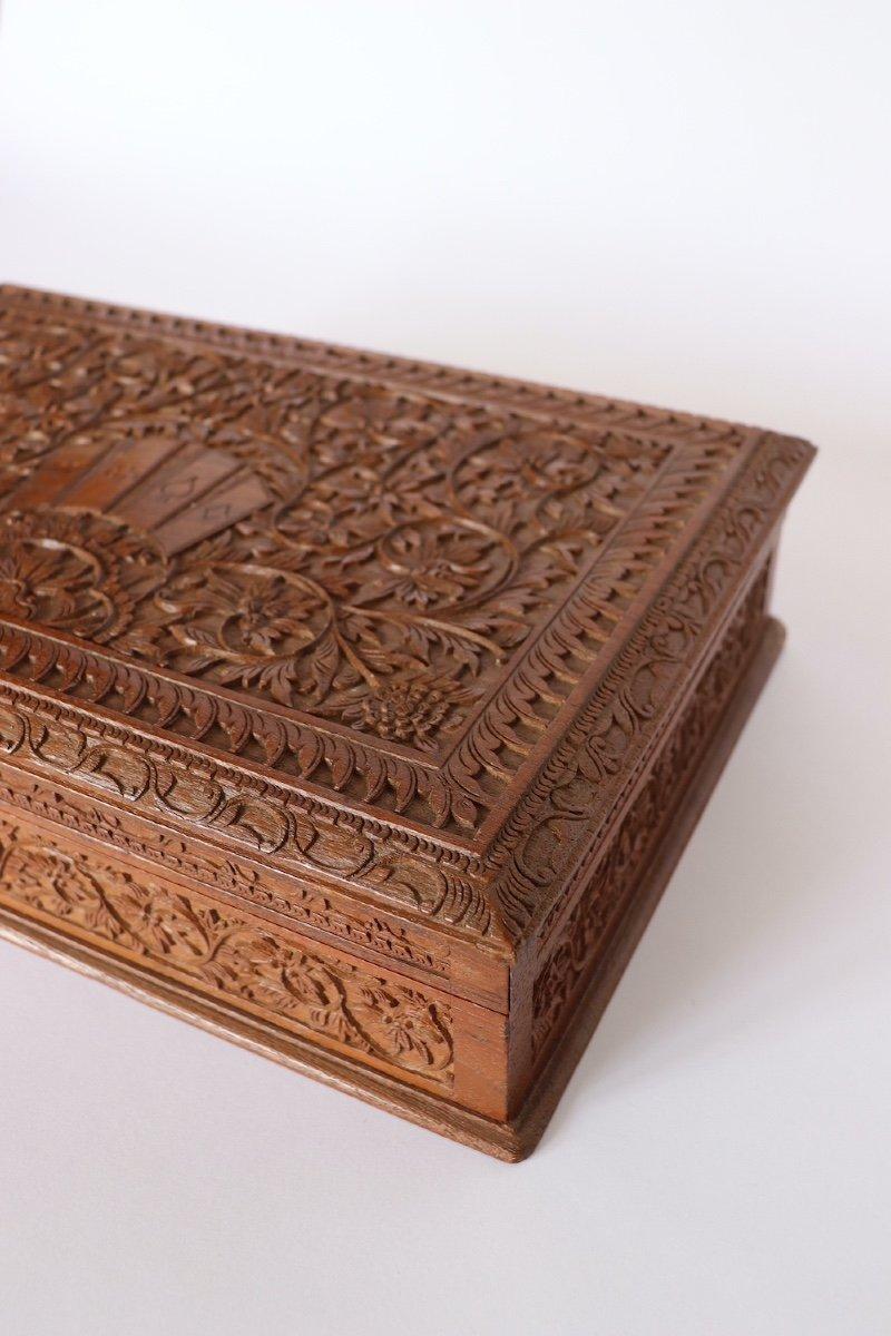 Boîte à Jeux En Bois Sculpté Asie du sud -est  XX° Siècle.  -photo-6