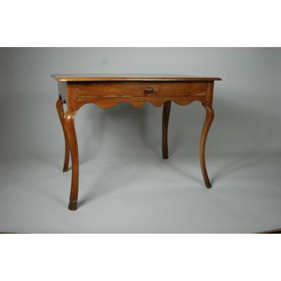 Extra Table Louis XV Cherry Aux Pieds Widely Arched.