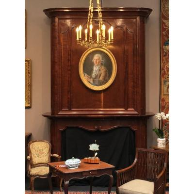 Bordelaise Louis XV Fireplace Mahogany Solid Cuba:
