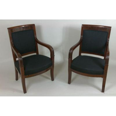 Pair Of Restoration Armchairs.