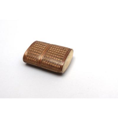 Scraper In Straw Marquetry. Box. XIX ° Century.